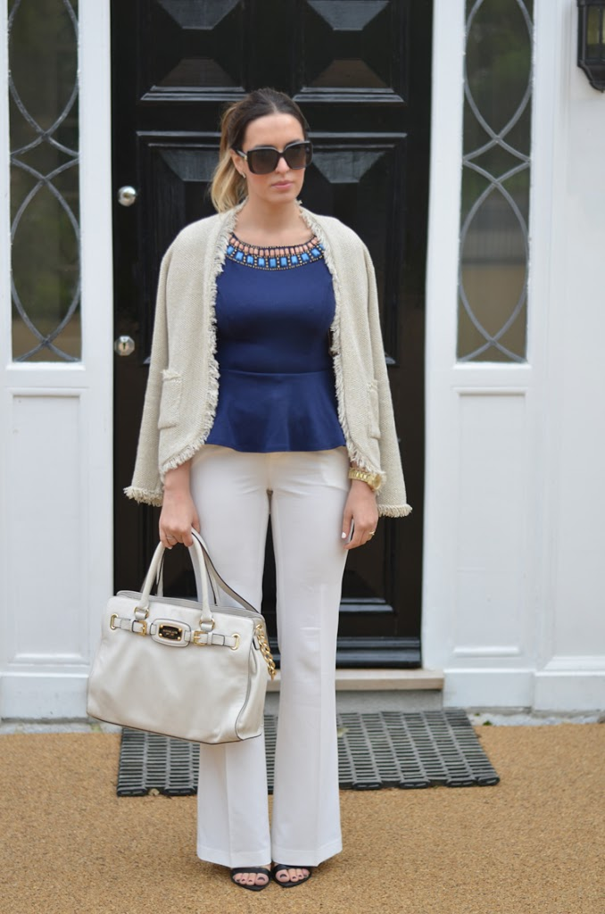 White flare look