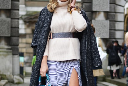 sweater reiss, stripes skirt, phyton dior mini bag