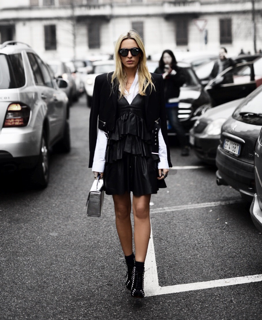 Diesel Black Gold show, MFW 17, Camila Carril Street Style