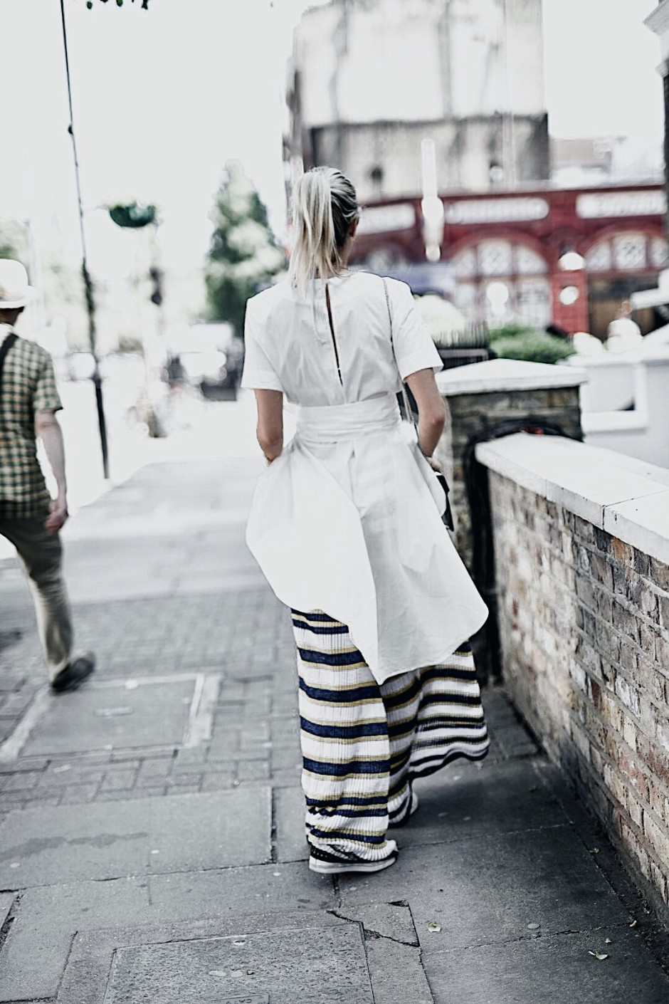 M Missoni wide leg trousers, Fendi Sunglasses, Storets White long top, Bulgari bag, The outnet, London, Maida Vale