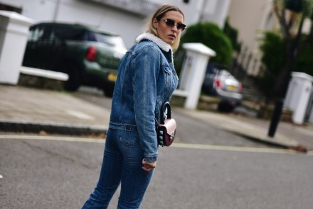 FIORUCCI T-SHIRT, LEVI'S JEANS JACKET, FENDI SUNGLASSES, SALAR MILANO BAG, JIMMY CHOO BOOTS , WEEKEND IN ST JOHN'S WOOD, CAMILA CARRIL